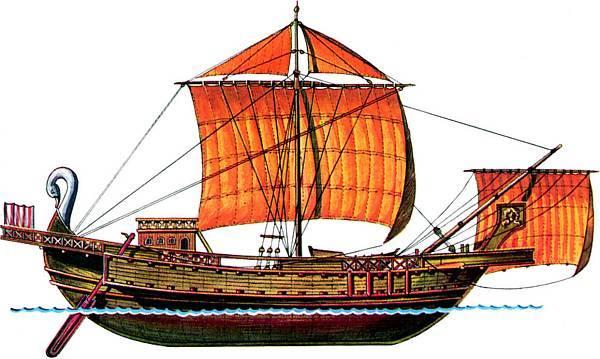 корабль без гребного винтажный
