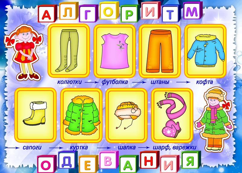 Картинки схемы одевания дошкольников
