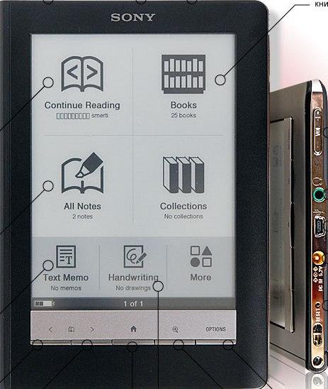 Электронная книга Sony PRS-600red фото 1. Электронная книга Sony PRS-600red